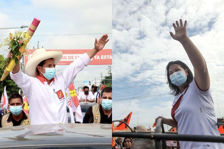 ONPE al 100%: Castillo 50.198% y Fujimori 49.802%