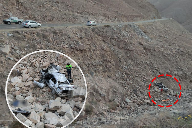 Un muerto tras caída de auto abarranco
