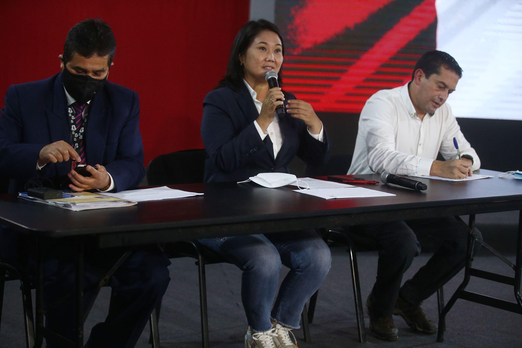 Keiko Fujimori anuncia recurso de hábeas data