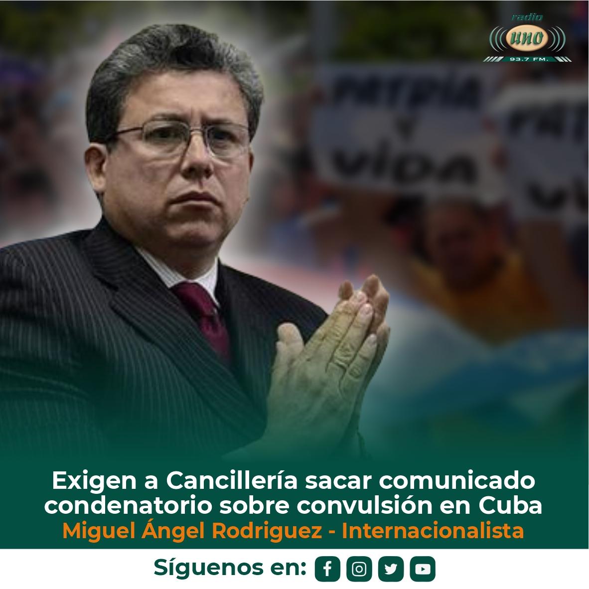 Exigen a Cancillería sacar comunicado condenatorio sobre convulsión en Cuba