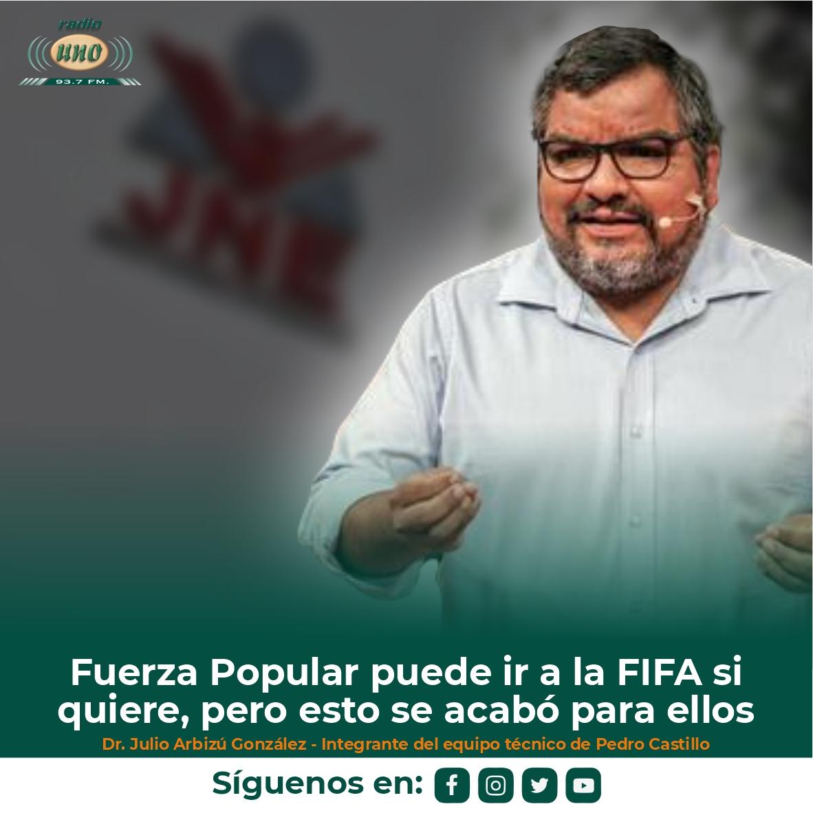 Fuerza Popular puede ir a la FIFA si quiere, pero esto se acabó para ellos