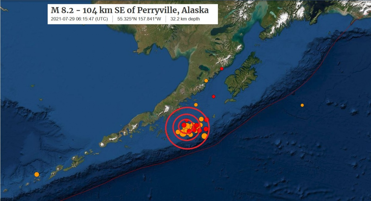 Terremoto de 8.2 grados sacudió Alaska