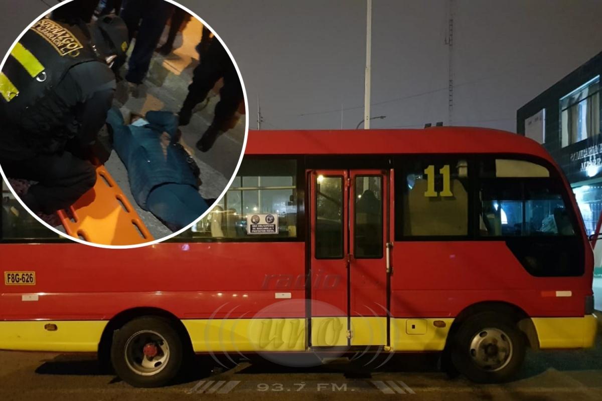 Pasajera de ruta 11 sufre fractura expuesta