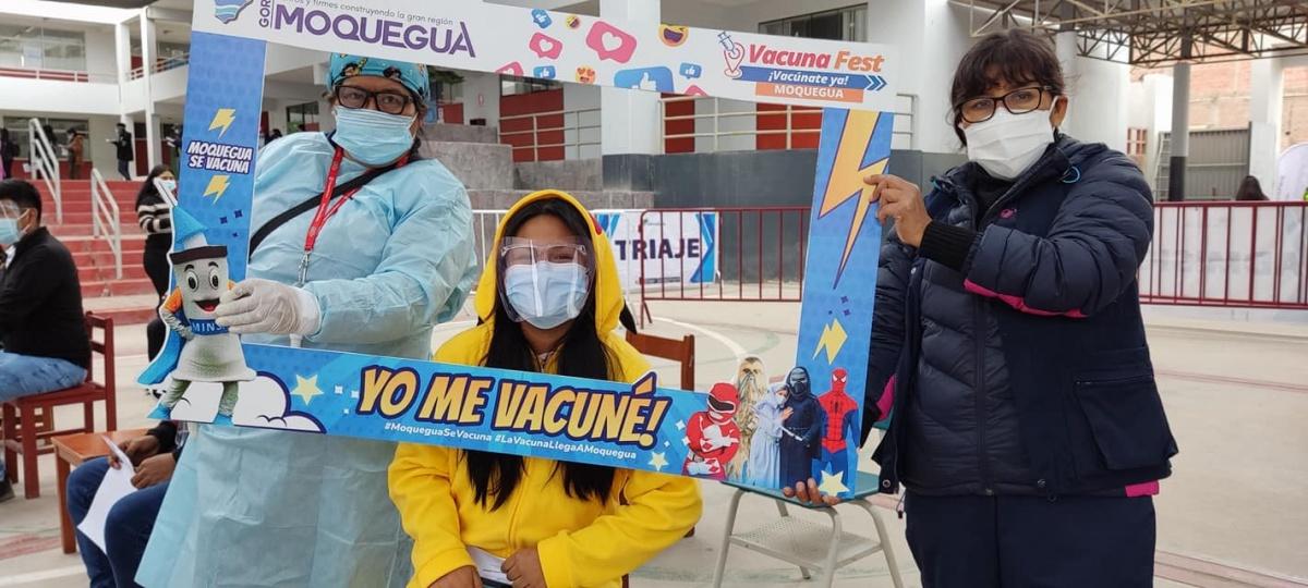Moquegua recibe más de 21 mil dosis de la vacuna contra la COVID-19