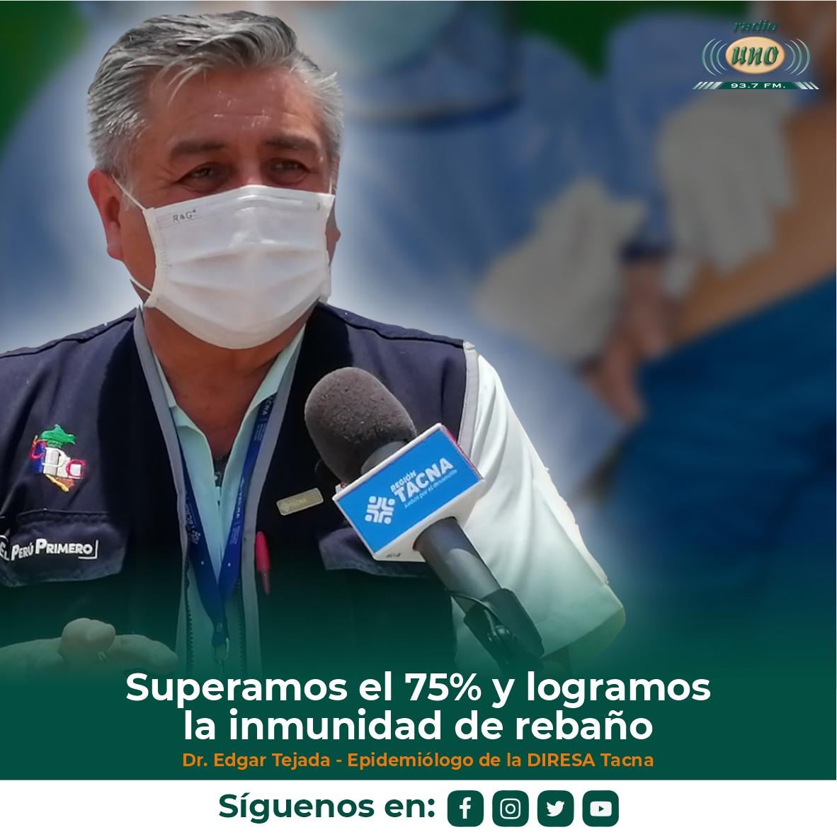 Superamos el 75% y logramos la inmunidad de rebaño