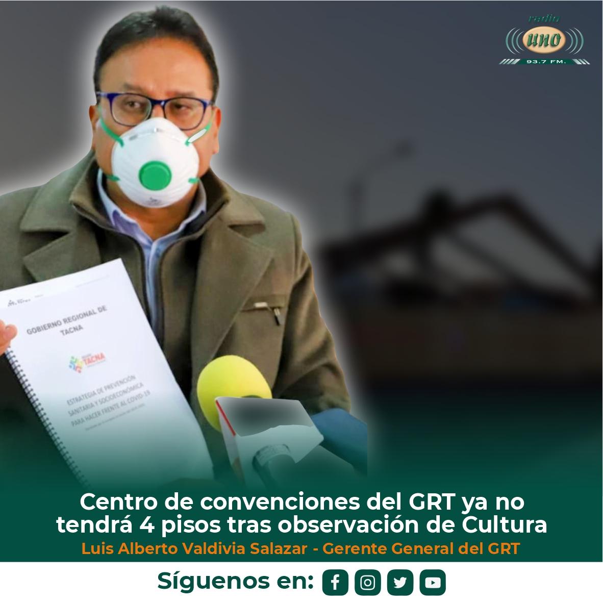 Centro de convenciones del GRT ya no tendrá 4 pisos tras observación de Cultura