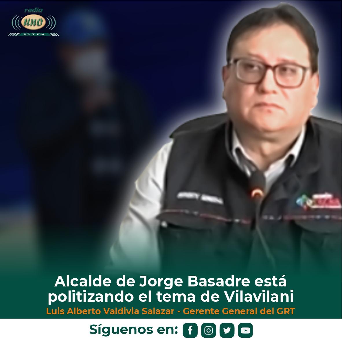 El alcalde provincial de Jorge Basadre está politizando el tema de Vilavilani