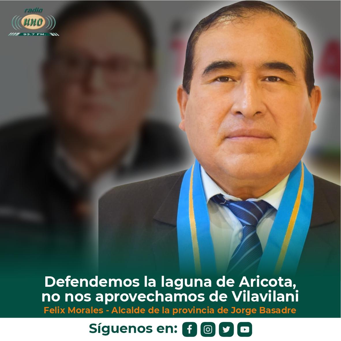 Defendemos la laguna de Aricota, no nos aprovechamos de Vilavilani